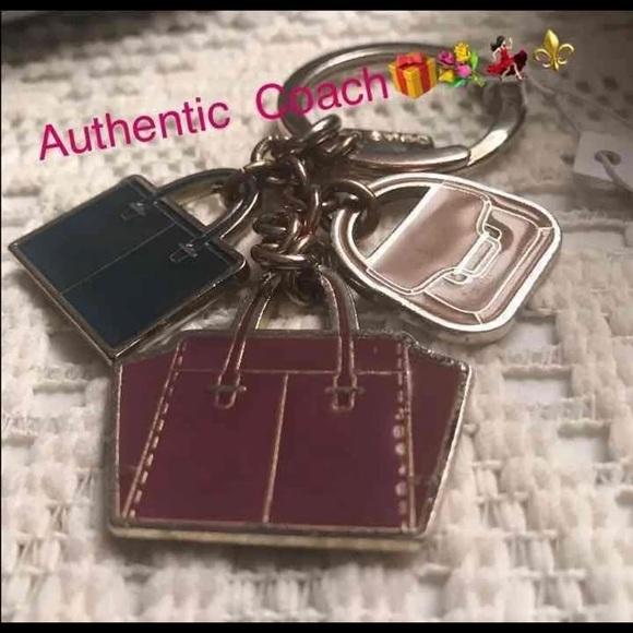 Coach Accessories - 🔥Coach Metal  3 Bag Purse Key Chain Fob!  🔑